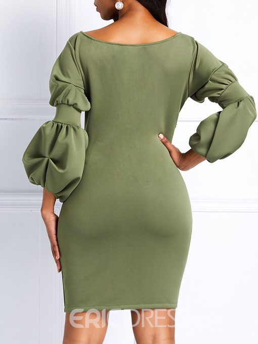 Ericdress Pullover Asymmetric Casual Plain Dresses