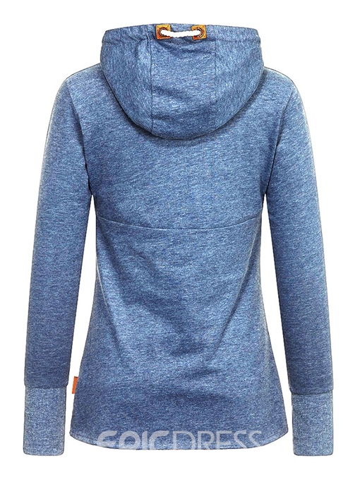 Ericdress Pleated Hooded Casual Plain Cool Hoodie