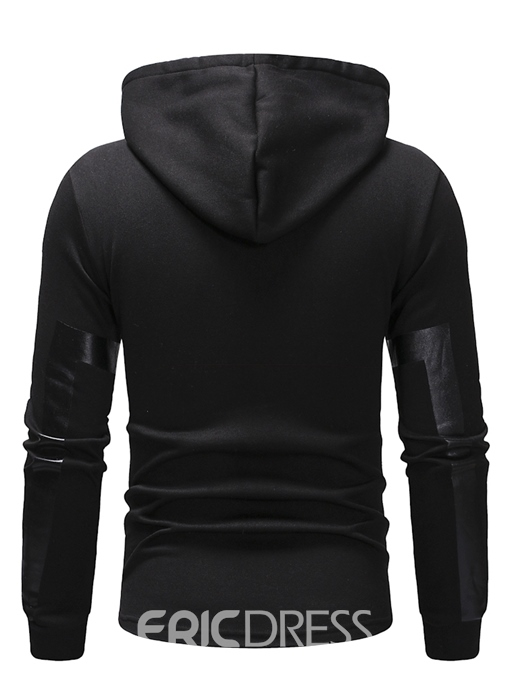 Ericdress Plain Pullover Hooded Mens Hoodies