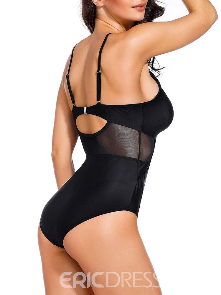 Ericdress Sexy Hollow Plain Swimwear