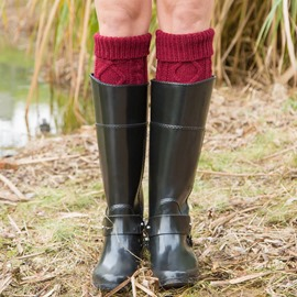 Ericdress Pure Colour Knit Boots Socks