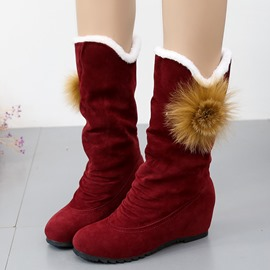 Ericdress Plain Hidden Elevator Heel Women's Winter Boots
