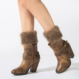 Ericdress Pure Colour Plush Boots Cuffs Socks