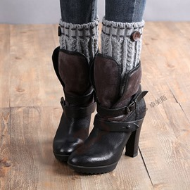 Ericdress Knit Women Boots Cuffs Fastener Socks