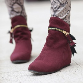 Ericdress Faux Suede Hidden Elevator Heel Women's Winter Boots