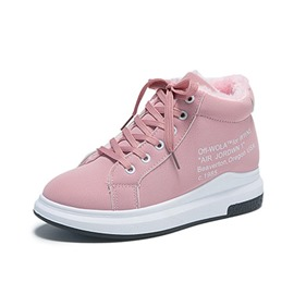 Ericdress Round Toe Lace-Up Platform Women's Winter Sneakers
