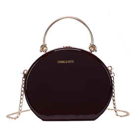 Ericdress Plain Rivet Japanese Circular Crossbody Bags