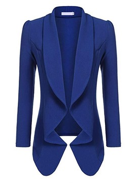 Ericdress Plain Lapel Long Sleeve Fall Blazer