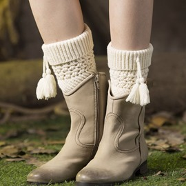 Ericdress Leg Warmers Tassels Socks