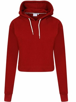 Ericdress Regular Plain Hooded Short Hoodie