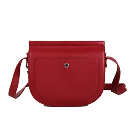 Ericdress Plain PU Saddle Crossbody Bags