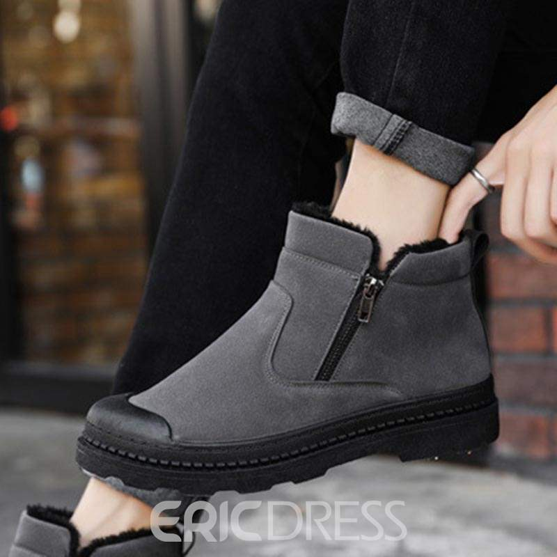 Ericdress Faux Suede Round Toe Men's Winter Boots