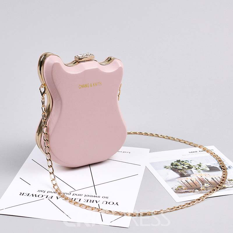 Ericdress PU Diamond Flap Crossbody Bags Banquet Clutch