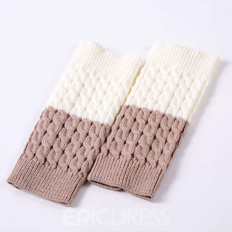 Ericdress Double Colour Leg Warmers Socks