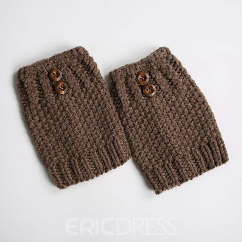 Ericdress Pure Colour Knit Boots Cuffs Socks