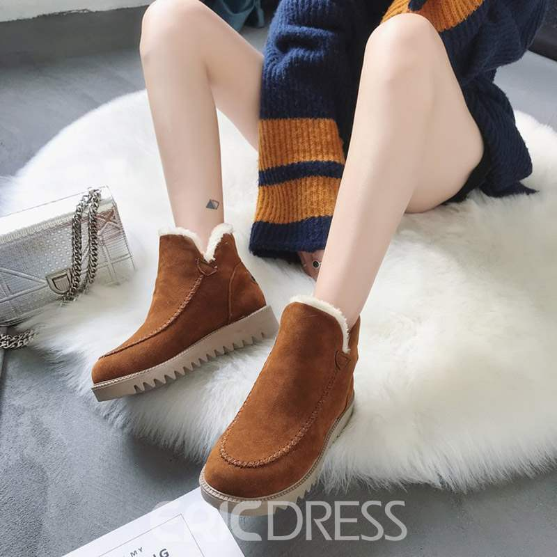 Ericdress Platform Slip-On Women's Winter Boots