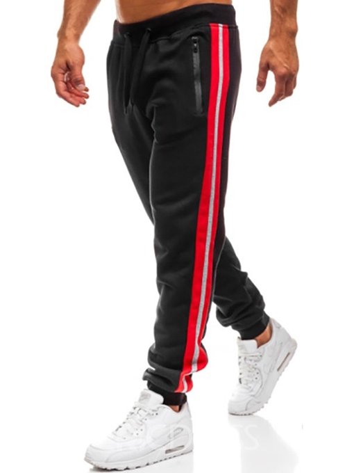 Ericdress Side Striped Patchwork Loose Lace-Up Mens Sports Casual Pants