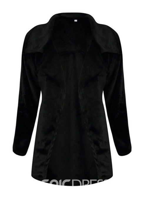 Ericdress Regular Patchwork Wrapped Lapel Mid-Length Overcoat