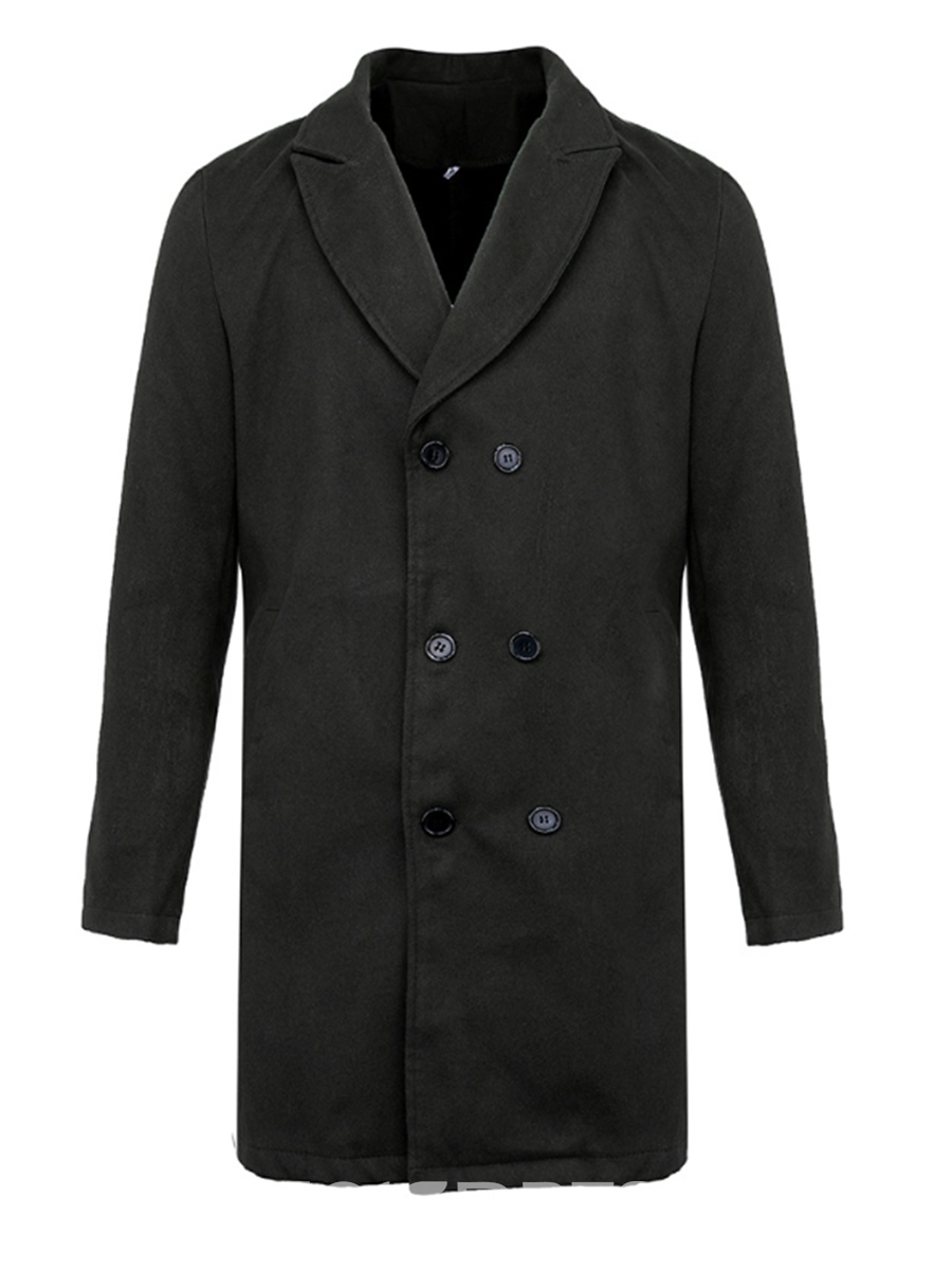 ericdress manteau droit mi-long