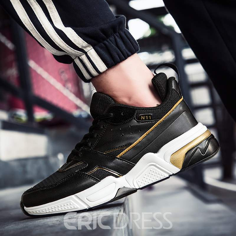Ericdress Color Block Lace-Up Low-Cut Upper Men's Sneakers