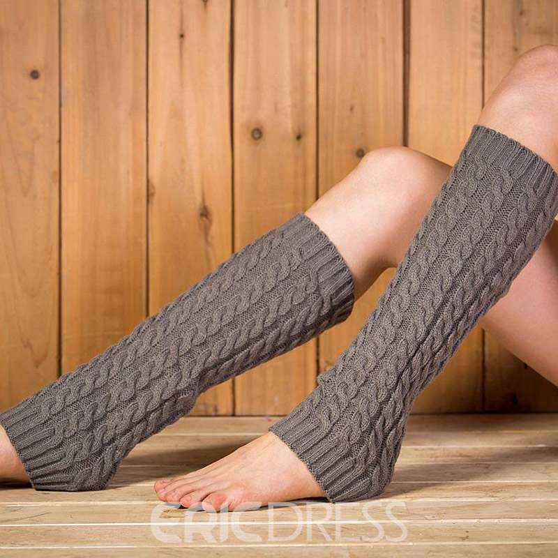 Ericdress Pure Colour Leg Warmers Socks