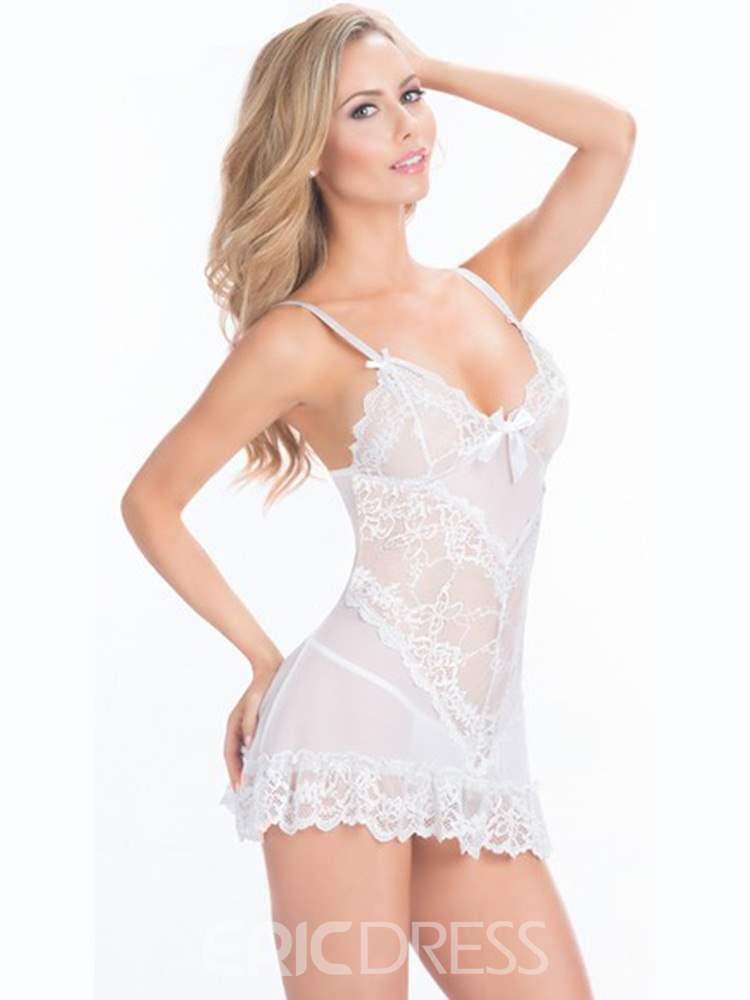 Ericdress Bowknot See-Through Sexy Babydoll