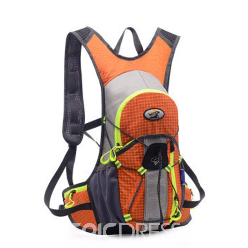 Ericdress Patchwork Nylon Plaid Sports Backpack