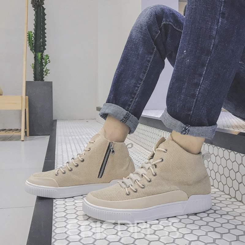 Ericdress Lace-Up Patchwork High-Cut Upper Men's Skate Shoes