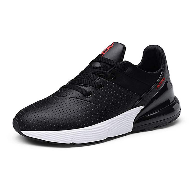 Ericdress Lace-Up Low-Cut Upper Men's Black Sneakers