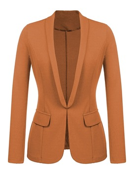 Ericdress Notched Lapel Plain Wrapped Office Lady Fall Blazer