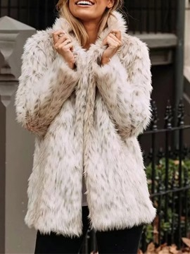 Ericdress Mid-Length Straight Fall Thick Faux Fur Overcoat