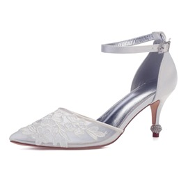 Ericdress Line-Style Buckle Stiletto Heel Wedding Shoes