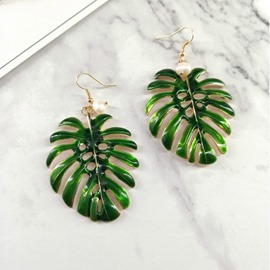 Ericdress E-Plating Leaf Chic Earrings
