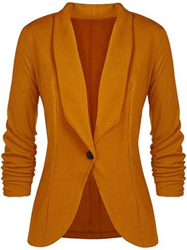Ericdress Notched Lapel One Button Long Sleeve Office Lady Fall Blazer