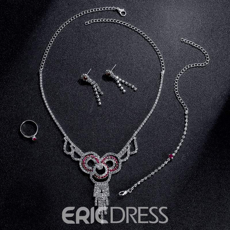 Ericdress Ring Diamante Wedding Jewelry Sets