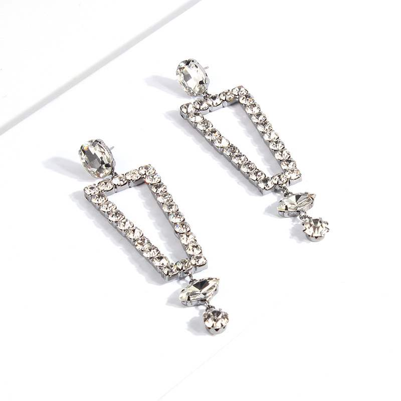 Ericdress Irregular Hollow Out Diamante Earrings