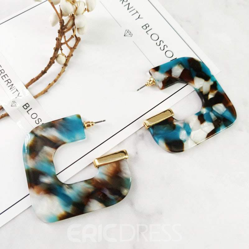 Ericdress Amber Geometric Prom Earrings
