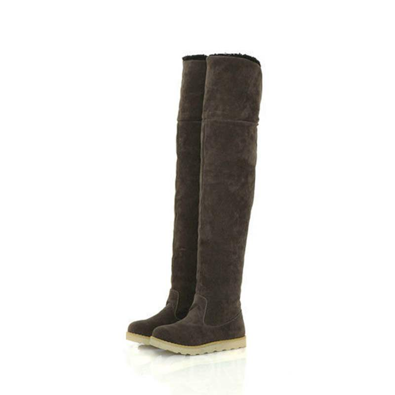 Ericdress Round Toe Slip-On Platform Women's Knee High Snow Boots