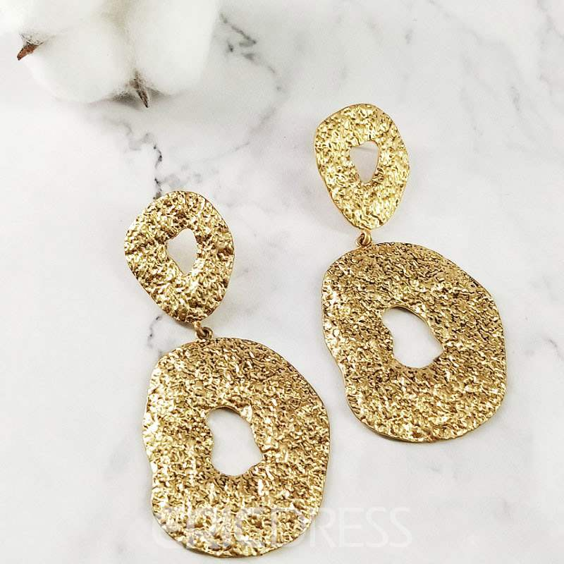 Ericdress Geometric Irregular Hoop Earrings
