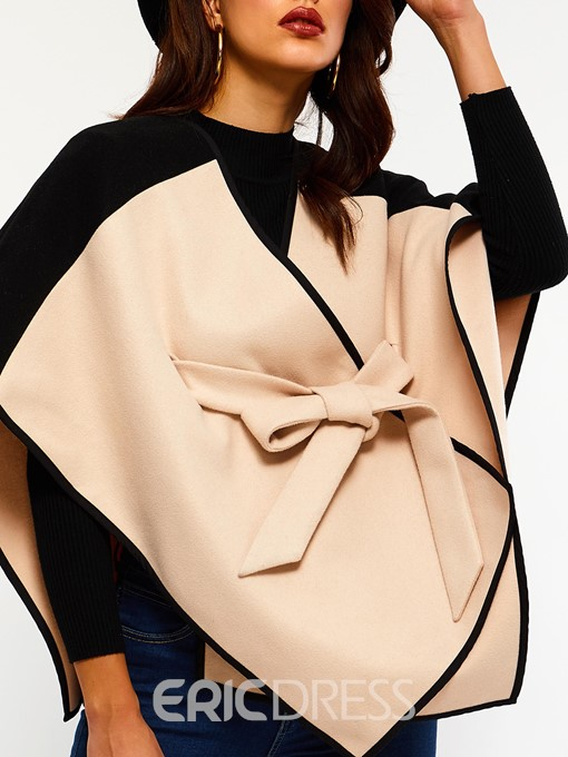 Ericdress Thick Color Block Western Fall Cape