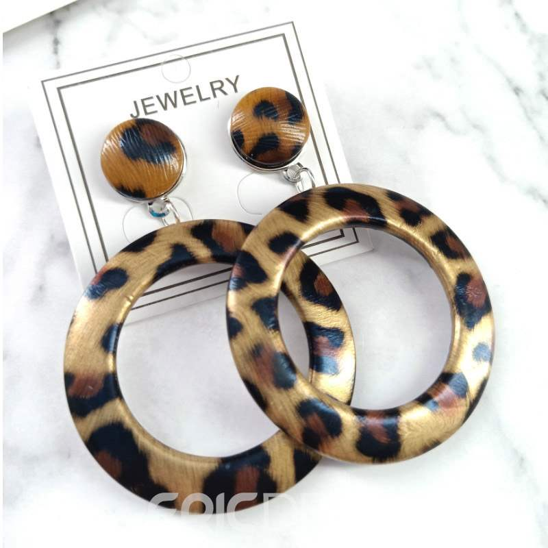 Ericdress Leopard Print Hoop Earrings