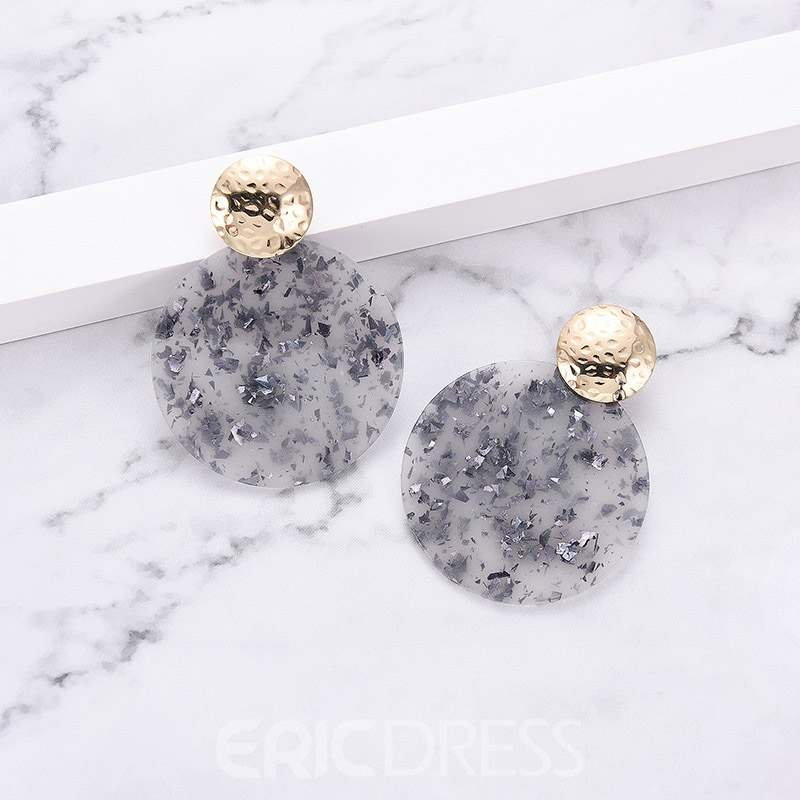 Ericdress Amber Acrylic Chic Earrings