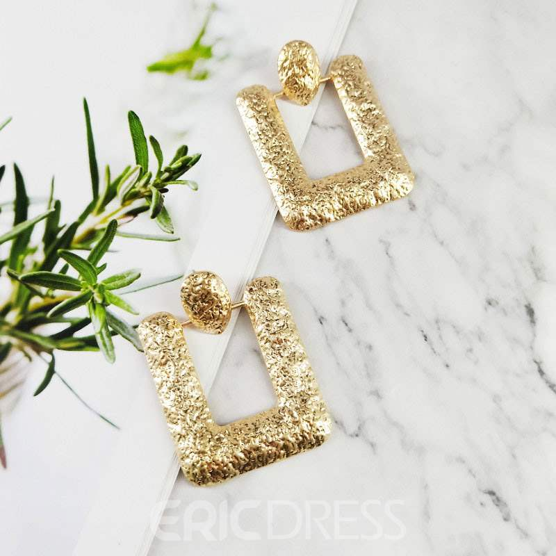 Ericdress Alloy Shining Drop Earrings
