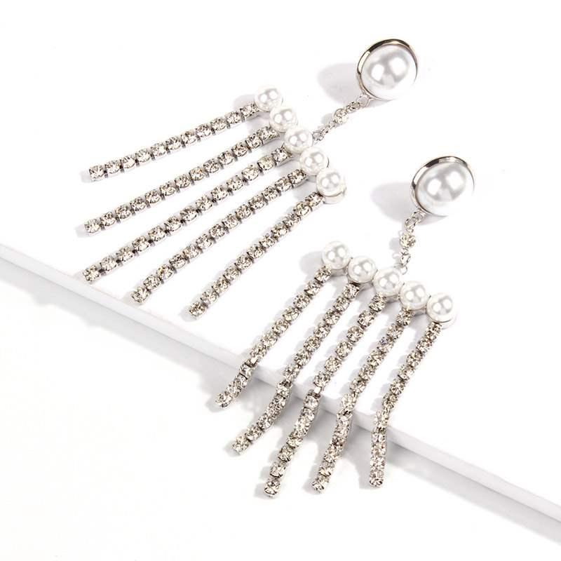 Ericdress Alloy Pearl&Diamante Earrings