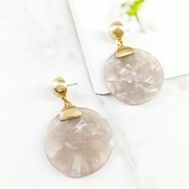 Ericdress Amber Round Earrings