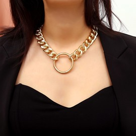 Ericdress Golden Rock/Punk Women Necklaces