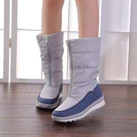 Ericdress Waterproof Front Zipper Patchwork Women's Snow Boots