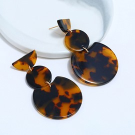 Ericdress Leopard Drop Earrings