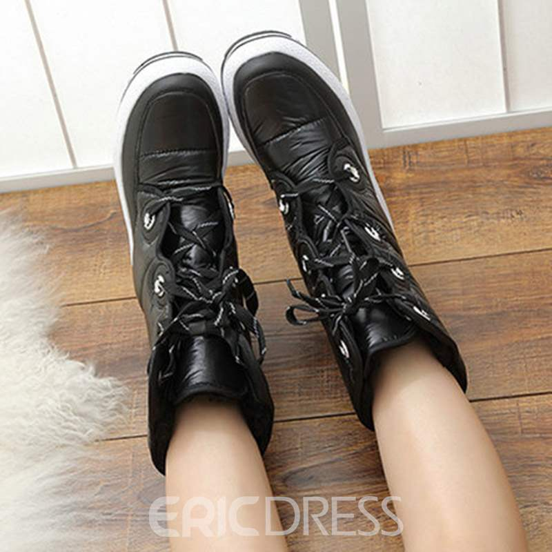 Ericdress Color Block Waterproof Women's Snow Boots