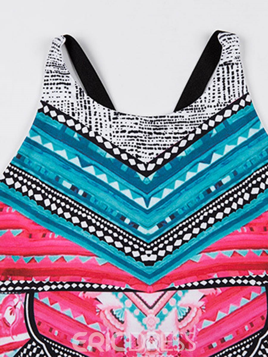 Ericdress Color Block Anti-Sweat Patchwork Sleeveless Sports Sets
